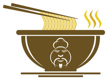 Chinese Bowl with Chef Sign stock illustration