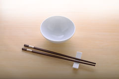 Chinese bowl and chopstick Royalty Free Stock Image
