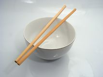 Chinese bowl and chopsticks. On top for eating food Stock Image
