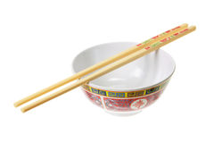 Chinese Bowl and Chopsticks Stock Photo