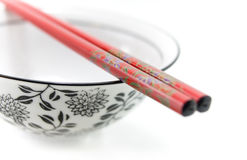 Chinese bowl with chopsticks Stock Photos