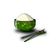 Chinese bowl with rice royalty free stock photography