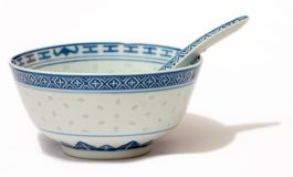Chinese Bowl and Spoon Stock Images
