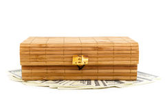 Chinese box. Chinese casket isolate on the white Stock Images