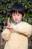 Chinese boy. Chinese kung fu boy gestures with actions Stock Images
