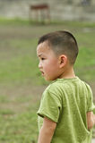Chinese boy. Portrait of a young Chinese boy wearing a green shirt Stock Image