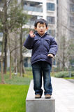 Chinese boy. Children are performing a dance to learn in kindergarten Stock Images
