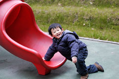 Chinese boy. Happy to play the little boy Stock Photo