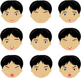 Chinese boy emotions. Royalty Free Stock Images