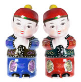 Chinese Boy Figurines Royalty Free Stock Photography