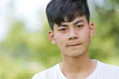 Chinese boy of puberty Stock Image