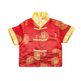 Chinese boy's traditional clothing with clipping path Royalty Free Stock Image