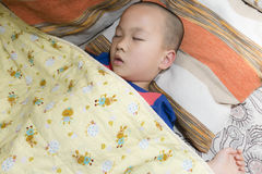 Chinese boy sleeping Royalty Free Stock Photo