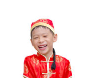 Chinese boy in traditional costume. Chinese new year concept Stock Images