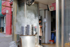 Chinese breakfast shop in the xian city Stock Photos