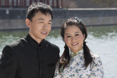 Chinese bridal couple Royalty Free Stock Photo