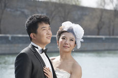 Chinese bridal couple Royalty Free Stock Photography