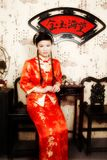 The chinese bride. In the photo Royalty Free Stock Images