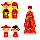 Chinese Bride And Groom. Stock Photos