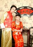 The chinese bride couples. The chinese couples in the photo Royalty Free Stock Images