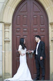 Chinese Bride and groom,wedding couple Royalty Free Stock Images