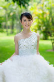 Chinese bride with wedding dress Stock Image