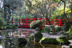 Chinese Bridge. Chinese garden scene Royalty Free Stock Images