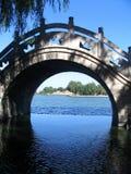 Chinese Bridge. Over Daming Lake, Jinan, China Royalty Free Stock Photo