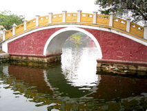 Chinese Bridge. Classical Chinese Bridge in a Park Stock Images