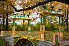 Chinese Bridge in Alexander`s park Royalty Free Stock Photo