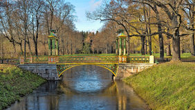 Chinese Bridge in Alexander`s park Royalty Free Stock Photos