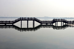 Chinese bridge Royalty Free Stock Images