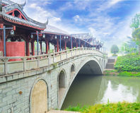 Chinese bridge Royalty Free Stock Photography
