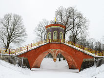 Chinese bridge in the Park. Stock Photo