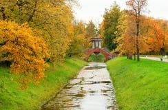 Chinese bridge in Pushkin Stock Image