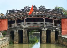 Chinese bridge - the tourism sight and travel destination in Hoi An, Vietnam. Stock Image