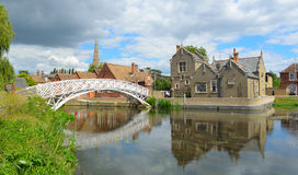 Chinese Bridge, Town Offices and the Causeway Godmanchester. royalty free stock photo