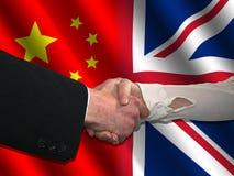 Chinese British handshake Royalty Free Stock Images