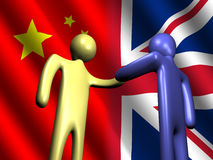 Chinese British meeting Royalty Free Stock Images