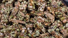 Chinese brittle with sesame royalty free stock photo