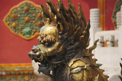 Chinese bronze Chimera statue Stock Images