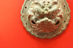 Chinese Bronze Lion Royalty Free Stock Image