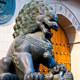 Chinese bronze lion Royalty Free Stock Images