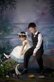 Chinese brother and sister Stock Image