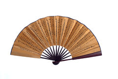 Chinese brown fan Royalty Free Stock Photography