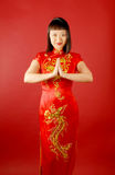 Chinese Bruid Royalty-vrije Stock Foto