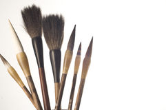 Chinese Brush. Of various sizes used for calligraphy and painting Royalty Free Stock Photography