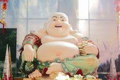 Chinese budda. Brilliant budda buddhism culture decoration decorative merry national religion smiles subjectnthailand watbuakwan Stock Image