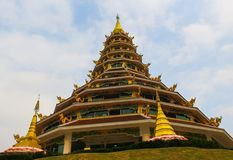 Buddha statue at Wat Huai Pla Kang Popular tourist attractions in Chiang Rai. Stock Images