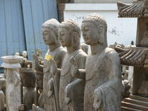 3 Chinese-Buddha-Statuen - Peking-Schmutz-Markt Stockfotografie